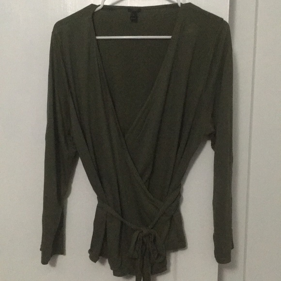 J. Crew Sweaters - Olive green wrap top